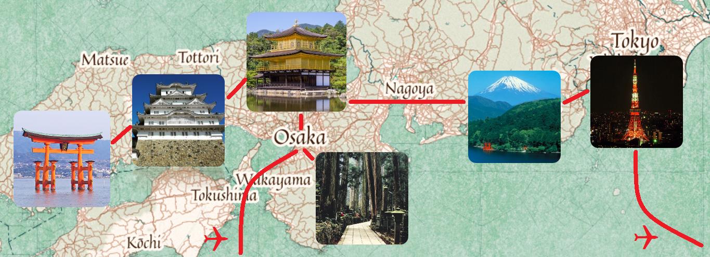 Karte der 13-tägigen Gruppenreise